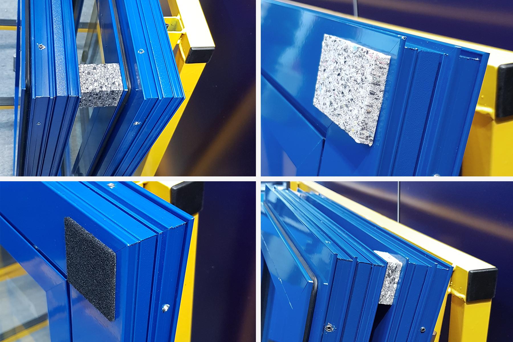 Przekładki filocwe i piankowe do transportu okien