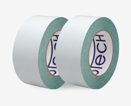 Double sided repulpable tape